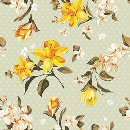 papel-de-parede-poa-com-flores-verde-claro