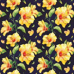 papel-de-parede-flores-em-amarelo-fundo-preto