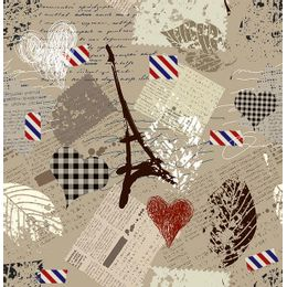 papel-de-parede-jornal-paris-marrom