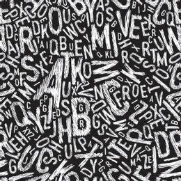 papel-de-parede-letras-rabisco-preto