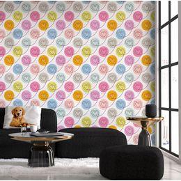 papel-de-parede-costura-de-coracoes-colorido