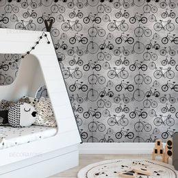 papel-de-parede-bicicletas-retro-preto