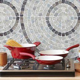 papel-de-parede-pastilha-mosaico-circular-cinza