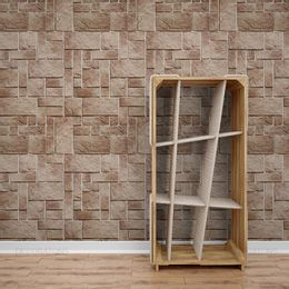 papel-de-parede-pedras-simetricas-marrom