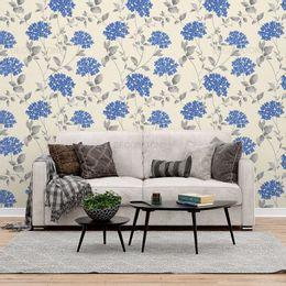 papel-de-parede-mini-flores-azul-e-galhos-champanhe