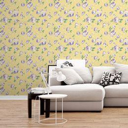papel-de-parede-delicadeza-em-floral-amarelo-claro