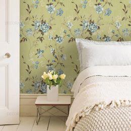 papel-de-parede-cravos-e-rosas-vintage-verde-musgo