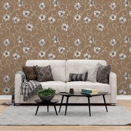 papel-de-parede-floral-moderno-marrom