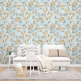 papel-de-parede-floral-delicado-e-renda-azul-claro