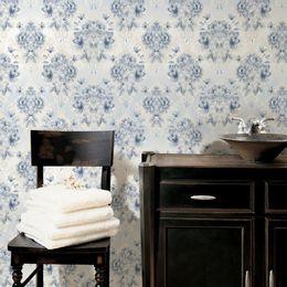 papel-de-parede-vintage-floral-azul-claro-e-cinza
