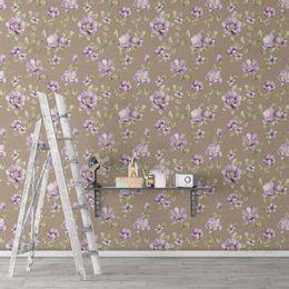 papel-de-parede-floral-roxo-e-marrom