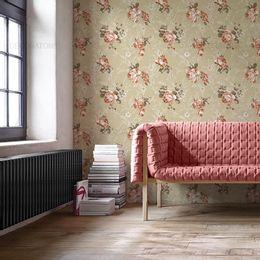 papel-de-parede-floral-retro-bege