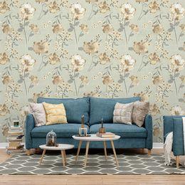 papel-de-parede-floral-abstrato-bege