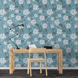 papel-de-parede-moderno-floral-azul-claro