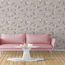 papel-de-parede-rosas-abstratas-pintura-cinza