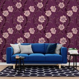 papel-de-parede-floral-roxo-moderno