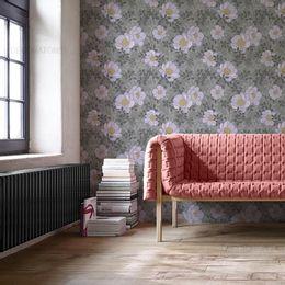 papel-de-parede-floral-lilas-e-cinza-delicado