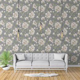 papel-de-parede-floral-fundo-grafite