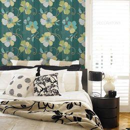 papel-de-parede-floral-moderno-tons-verdes
