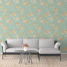 papel-de-parede-floral-turquesa-delicado