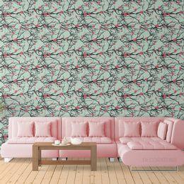 papel-de-parede-galhada-com-flores-verde-claro