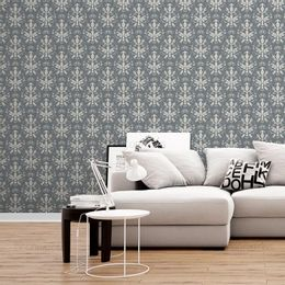 papel-de-parede-vintage-com-fundo-grafite