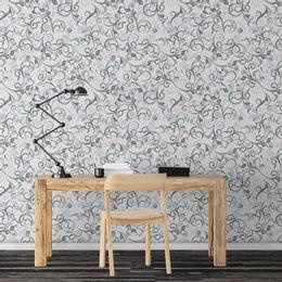 papel-de-parede-vintage-arabesco-cinza