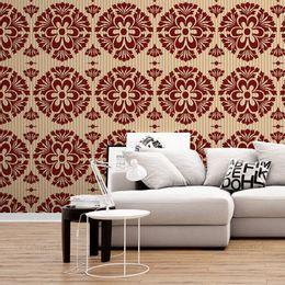 papel-de-parede-vintage-cores-vermelho-e-coral