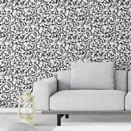 papel-de-parede-vintage-branco-e-preto-desenhos-emaranhados