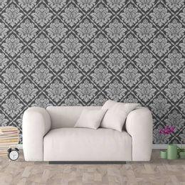 papel-de-parede-vintage-grafite-e-cinza