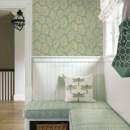 papel-de-parede-vintage-floral-verde