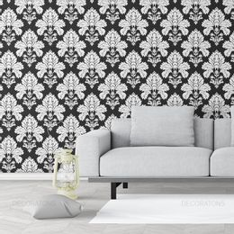 papel-de-parede-vintage-retro-branco-e-preto
