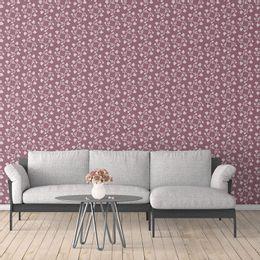 papel-de-parede-vintage-floral-rosas-ameixa