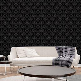 papel-de-parede-vintage-preto-com-desenhos-branco