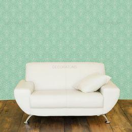 papel-de-parede-vintage-desenhos-verde-claro