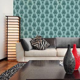 papel-de-parede-vintage-desenhos-turquesa
