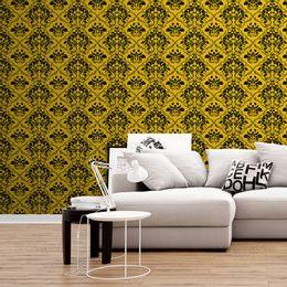 papel-de-parede-vintage-amarelo