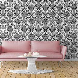 papel-de-parede-branco-com-preto-vintage