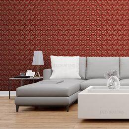 papel-de-parede-vintage-desenhos-pequeno-fundo-vermelho