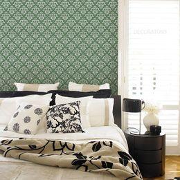 papel-de-parede-vintage-verde