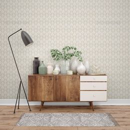 papel-de-parede-vintage-arabesco-bege-com-branco