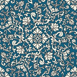 papel-de-parede-vintage-azul-cobalto-desenhos-branco