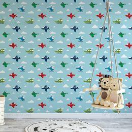 papel-de-parede-ceu-aviao-cor-azul-claro