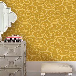 papel-de-parede-abstrato-moderno-arabesco-mostarda