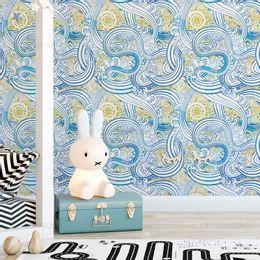 papel-de-parede-listras-abstratas-azul-cobalto
