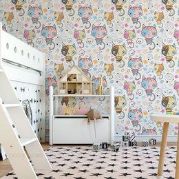 papel-de-parede-gatos-coloridos-desenho