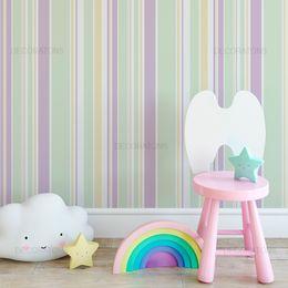 papel-de-parede-listrado-infantil-tons-pasteis-roxo-e-verde