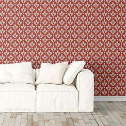 papel-de-parede-abstrato-retro-vermelho