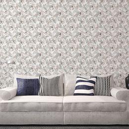 Papel-de-Parede-Cinza-Abstrato-Floral-ENC91