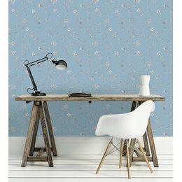 papel-de-parede-flores-e-galhos-vintage-azul-claro